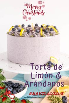 There's a double dose of blueberries and lemon this amazing Lemon Blueberry cake! A moist and delicious lemon cake with fresh blueberries and a blueberry buttercream. Frosting Recipes, Cake Recipes, Dessert Recipes, Cupcakes, Cupcake Cakes, Baby Cakes, Refreshing Desserts, Blueberry Cake, Lemon Blueberry Layer Cake Recipe