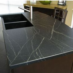 Slate Countertops For Your Bathroom And Kitchen | A Well, Countertop  Materials And Wells
