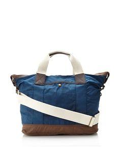 J.Campbell Los Angeles Men's Everyday Bag (Navy/Brown)