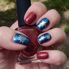 15 Fun and Easy Nail Designs to Celebrate Labor Day ★ See more…