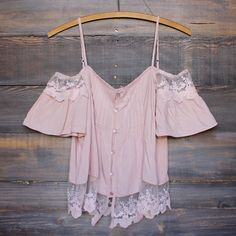 dusty pink boho off the shoulder shirt