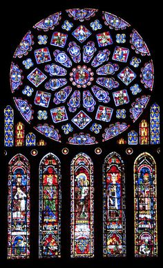 Stained glass rose window Chartres Cathedral | Flickr - Photo Sharing!