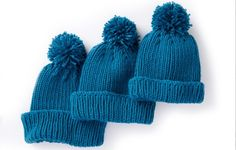Fit out the entire family for the winter with this lovely knitted ribbed family hat. knit this great family in three different sizes ...
