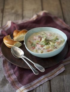 Krémová polévka s lososem Foto: