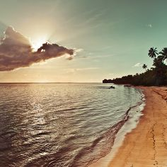 Sunset / light / clouds / sea / sunset / natural light / retro / beach / ocean / wave / water ripple / vintage / summer / photography (by ►CubaGallery)