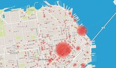 Where Bicycles Are Stolen in San Francisco