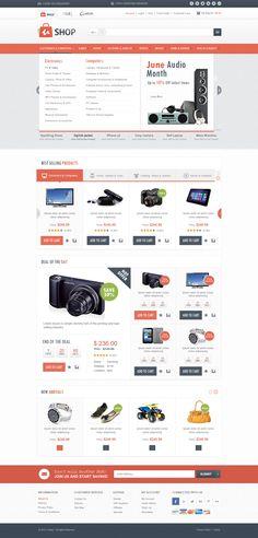 Ushop Ecommerce web design