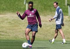 England's Raheem Sterling takes part in an England team training session at Saint George's Park in Burton-upon-Trent on June 4, 2015. England will play the Republic of Ireland in an international friendly football match in Ireland on June 7.