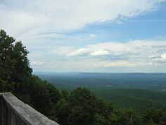 A view from atop the mountain at Cacapon!