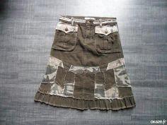 Jupe militaire  - Jupe militaire taille réglable