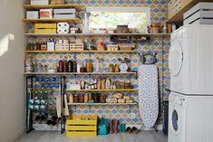 Laundy Room, Pantry Laundry Room, Leroy Merlin, Liquor Cabinet, Tiny House, Sweet Home, Shelves, Storage, Furniture