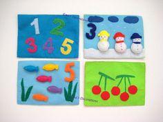 Preschool Felt Board Children Quiet Book  8 pages by WinterEma, $75.00