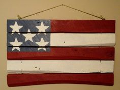 Repurposed barn wood made into flag