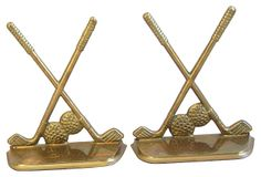 1950s Brass Golf-Motif Bookends on OneKingsLane.com