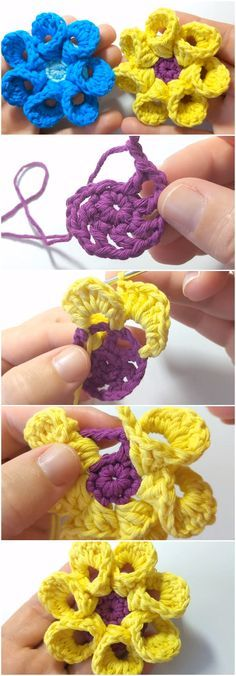 Crochet Flower Step