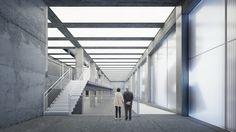 Interior visualisation Rendering gallery minimalistic - looma