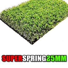 25mm SUPER Spring Artificial Grass for Sale Price: £15.49 per m2 https://www.artificialsupergrass.co.uk/products/superlush