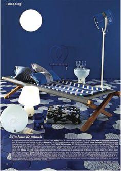 Lampe Paris in Marie Claire Maison (July-August 2014) #Maiori #decoration #Design #Press #lampe #paris #white #outdoor