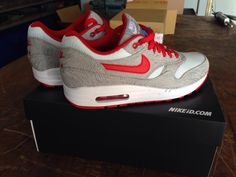 Nike nikeid air max 1 red grey white zig woven mesh