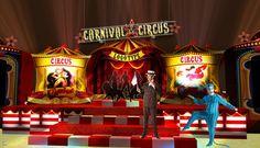 Circus theme set design by Bryan T at Coroflot.com