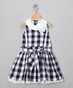 Take a look at this Blue & White Plaid A-Line Dress - Toddler & Girls by Trish Scully Child on #zulily today!