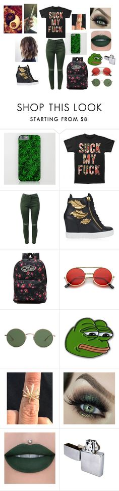 """""""Suck My F*ck"""" by ashwee-marie on Polyvore featuring Giuseppe Zanotti, Vans, ZeroUV, The Row, PèPè and SENSI"""