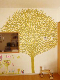 masking tape wall art マスキングテープでウォールデコ ダイニング編| ウーマンエキサイト みんなの投稿