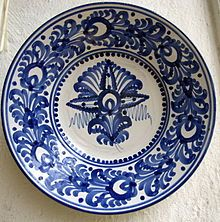 Plate of Modra ceramics, Modra , Slovakia Contemporary Decorative Art, Flower Art, Dinnerware, Decorative Plates, Pottery, Tableware, Moldova, European Countries, Czech Republic