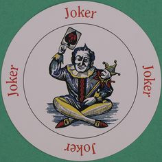 Round Playing Card Joker