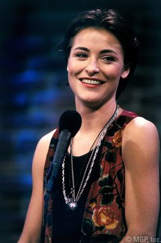 """LOS ANGELES - Actress Amanda Donahoe poses for a photo at the A&E TV show """"An Evening at the Improv"""" in 1991 in Los Angeles, California. (Photo by Michael Grecco) Amanda Donohoe, Brideshead Revisited, King George, Tv Shows, Actresses, Stock Photos, Poses, Female, Film"""