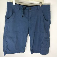 1a09940e63 PrAna Breathe Mens Size 38 Large Blue Swimming Boardshorts Casual Shorts  Trunks #prAna #FlatFront