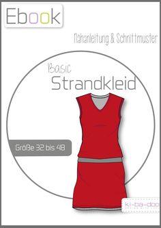 Ebook Basic Strandkleid Damen - Schnittmuster und Anleitung als PDF, versandkostenfrei