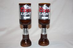Recycled Beer Bottle - Coors Light -  Goblet Candle Set - Custom Made. $20.00, via Etsy.