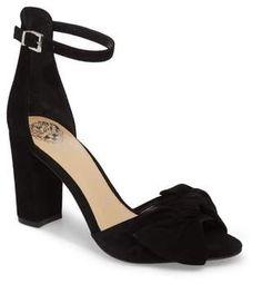 Vince Camuto Carrelen Block Heel Sandal. #affiliate #heels #nordstrom #vincecamuto #blackheels #dressyheels