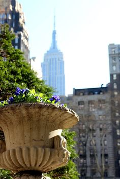 Empire State viewed from Bryant Park