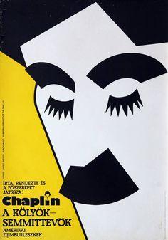ORIGINAL CHARLIE CHAPLIN - THE KID - VINTAGE MOVIE POSTER - HUNGARY  #Vintage