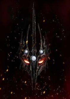 The Iron Crown of Melkor with crimped Silmarils. This excellent illustration belongs to SpentaMainyu on DeviantArt.