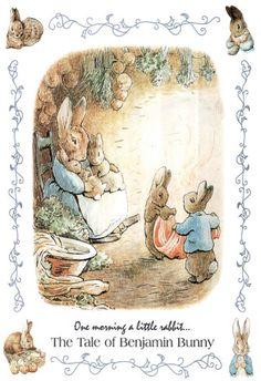 Beatrix Potter Benjamin Bunny Art Print Poster Posters at AllPosters.com