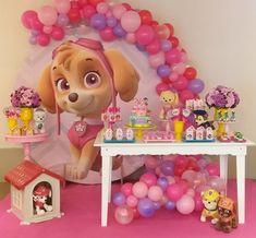 Paw Patrol Theme Party, Paw Patrol Birthday Girl, Dog Birthday, 4th Birthday Parties, Paw Patrol Coloring, Puppy Party, Birthday Decorations, Balloons, Tutu Party