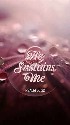 Sustain...means to strengthen or support physically or mentally...in the midst of...not that he will take you out of it...but that while you are IN IT...he will keep you in perfect peace...dont always seek to get out of the situation...but that GOD will sustain you until your blessing...#SustainMeLORD