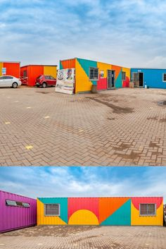 Topshell Containers in Gauteng converted several discarded shipping containers into a school, including classrooms, male and female ablution facilities, and a library. #shippingcontainers #containerconversion #containerclassroom #containertoilets #containerlibrary #construction #buildings #southafrica #upcycledcontainers #recycledcontainers #convertedcontainers Shipping Container Conversions, Shipping Containers, South Africa, Conversation, Buildings, Outdoor Blanket, Construction, Female, School