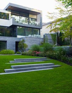 jardin paysager, architecture moderne
