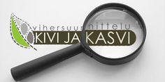 Suunnittelin turkulaisen Vihersuunnittelu Kivi ja kasvi -yrityksen logon ja liikemerkin.
