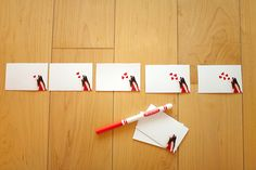 Pocket Kiss Flip Book- First, take a picture of yourself blowing a kiss.  Then print a bunch of little pictures and use a red marker to draw one heart on the first picture, two on the second and so on..  Punch holes on the end and tie it together with ribbon. You've just made a kiss flip book!