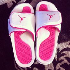 Pink Jordan slides!
