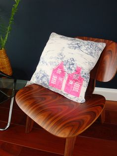 Hand Printed Cushion Cover  Linocut  'Dutch Houses' by KRBN, €20.00