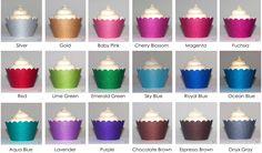 Platinum Glitter Reusable Cupcake Wrappers - Set of 12 (Available in 18 Colors) [DMC Platinum Glitter Cupcakes] : Wholesale Wedding Supplies, Discount Wedding Favors, Party Favors, and Bulk Event Supplies