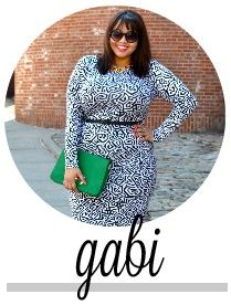 GABIFRESH--the blogger who posted pics of herself in a fatkini.   I like her. She has guts and shes beautiful!