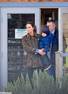 Kate Middleton and Prince George at the Petting Zoo Pictures | POPSUGAR Celebrity