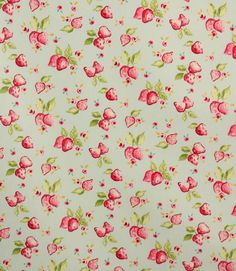 Great colour combination in this Strawberry PVC Oil Cloth Fabric  http://www.justfabrics.co.uk/curtain-fabric-upholstery/duck-egg-pvc-strawberries-fabric/
